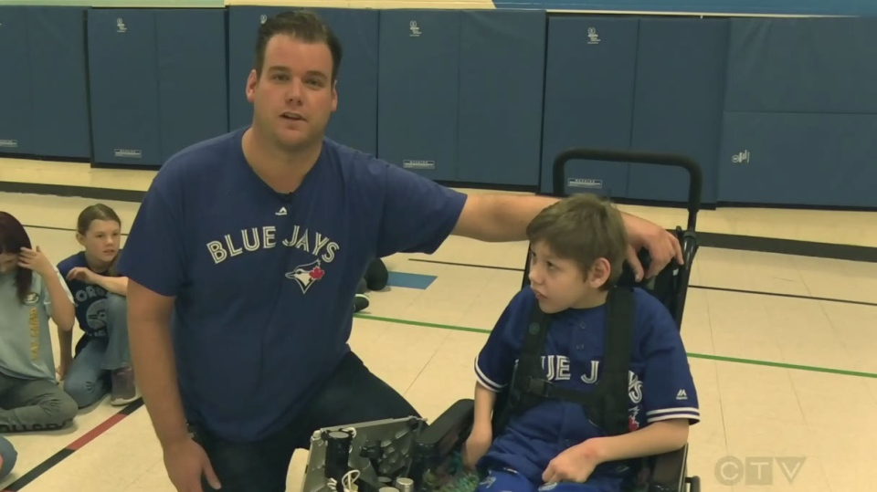 Hunter King's classmates have put together a campaign for him to throw out the opening pitch at a Toronto Blue Jays game this season.