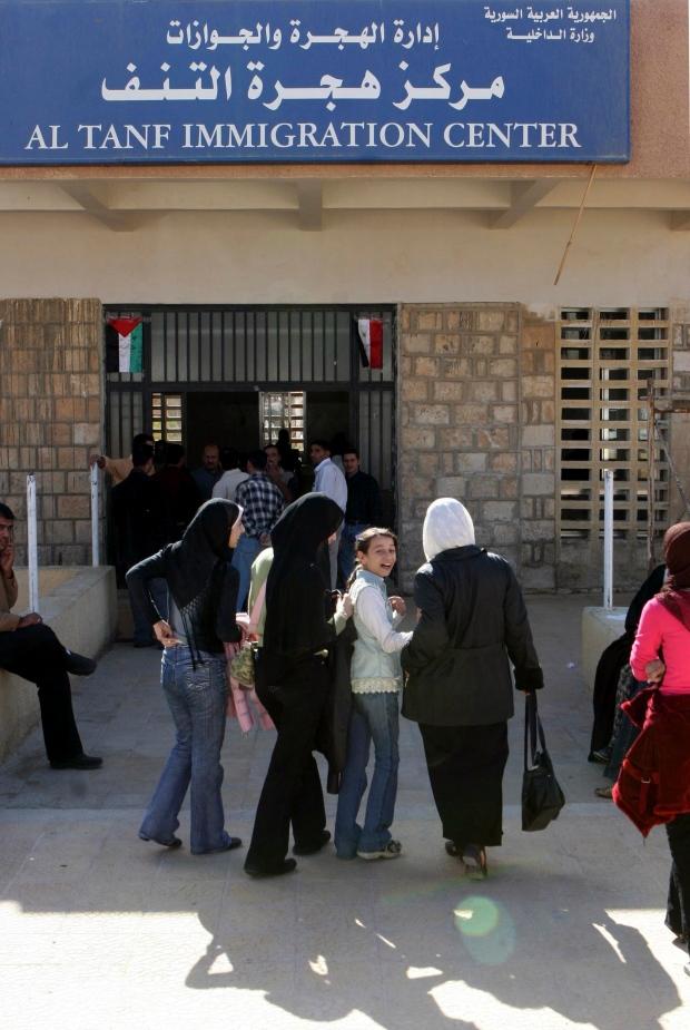 Syrian-Iraqi border crossing