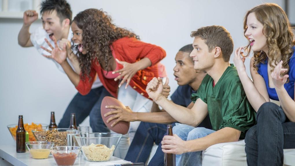 Millennials cheering