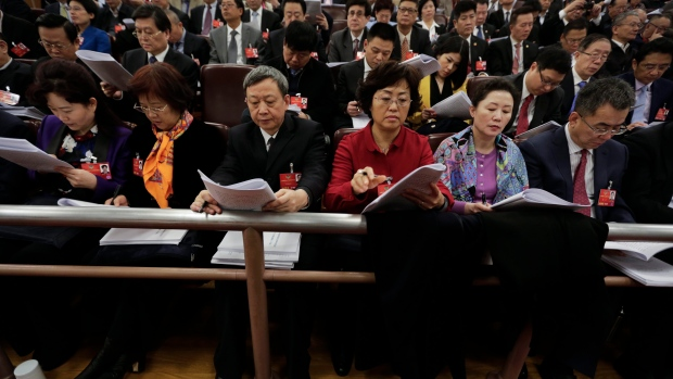 Delegates at China's National People's Congress