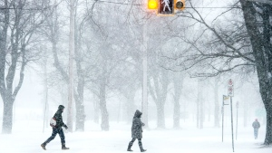 Pedestrians cross the street in Halifax on Saturday, March 5, 2016.  (Andrew Vaughan / THE CANADIAN PRESS)