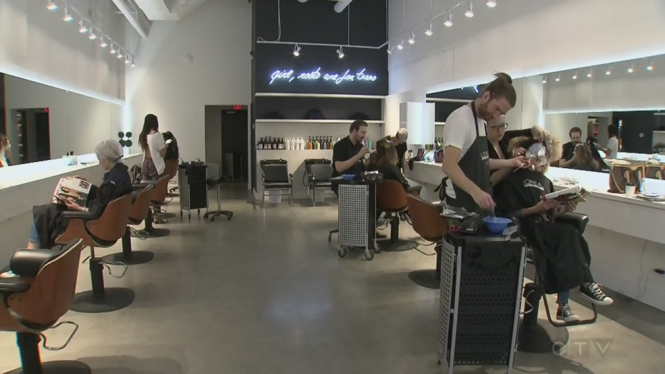 Revolution Hair Studio in Montreal's suburb of Beaconsfield is participating in a program that helps salons reduce the waste they produce.