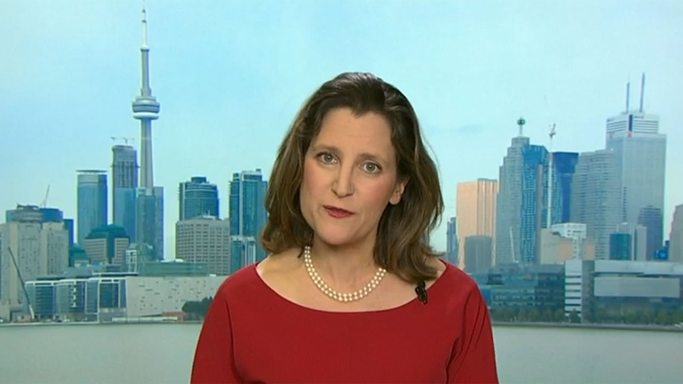Chrystia Freeland speaks on CTV's Question Period.