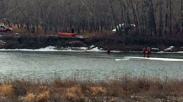 Body in the Bow River
