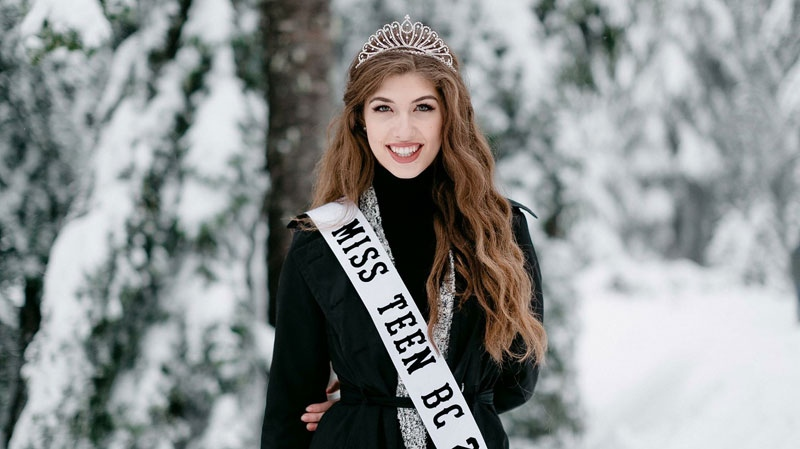Shalom Reimer of Fort Langley was initially crowned Miss Teen B.C. this past summer.
