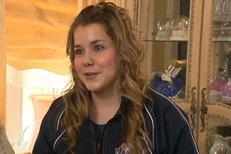 Tina Adams was struck by an alleged drunk driver last June.