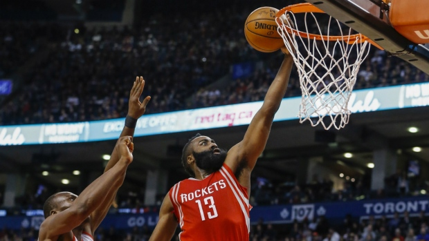 James Harden nets 40 points in win over Toronto