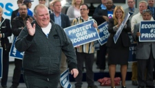 Rob Ford in Etobicoke in Oct., 2015
