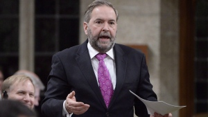 NDP Leader Tom Mulcair asks a question during question period in the House of Commons on Parliament Hill in Ottawa, on Wednesday, Feb. 24, 2016. (Adrian Wyld / THE CANADIAN PRESS)