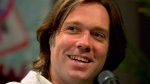 Singer Rufus Wainwright speaks to reporters at a news conference Thursday, June 28, 2012 in Montreal. THE CANADIAN PRESS/Ryan Remiorz