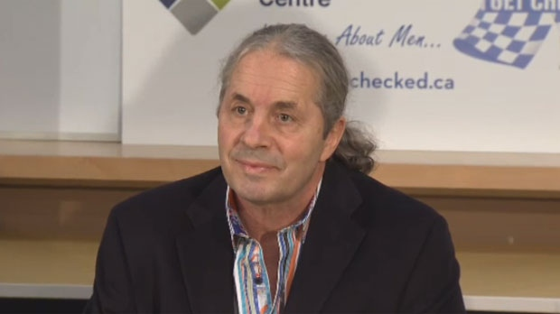 "Bret ""The Hitman"" Hart urges men to get their PSA test."