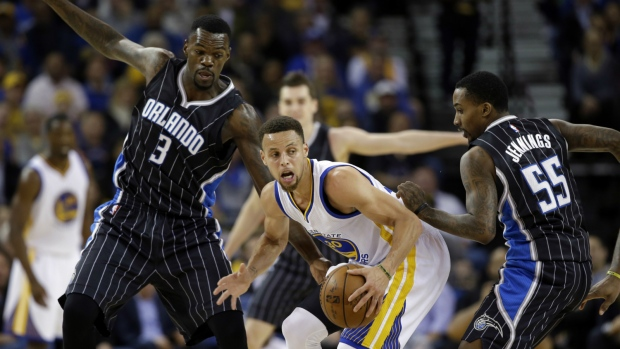 Stephen Curry up against the Orlando Magic