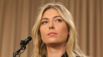 Tennis star Maria Sharapova speaks during a news conference in Los Angeles on Monday, March 7, 2016. Sharapova says she has failed a drug test at the Australian Open. (AP / Damian Dovarganes)