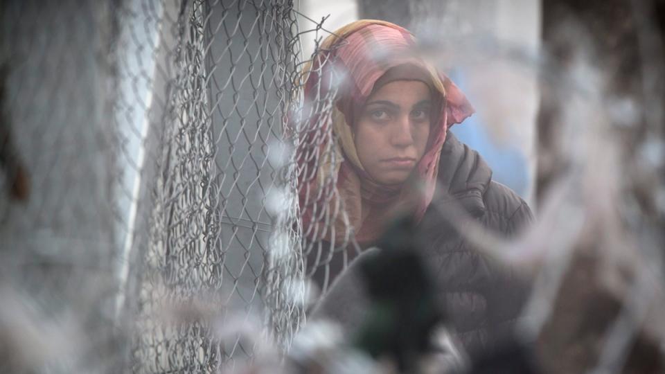 At the northern Greek border station of Idomeni, on March 8, 2016. (Vadim Ghirda / AP)