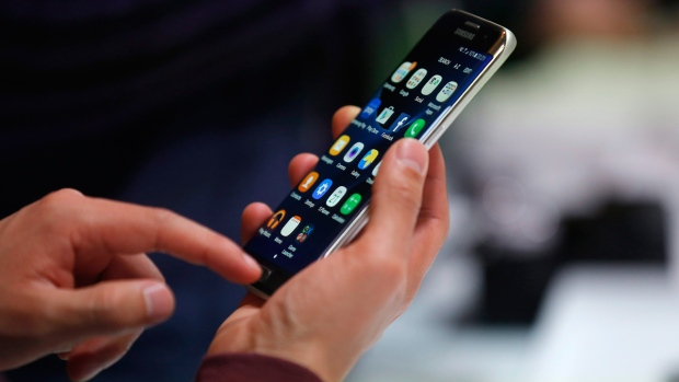 Samsung Galaxy S7 Edge in Barcelona, Spain