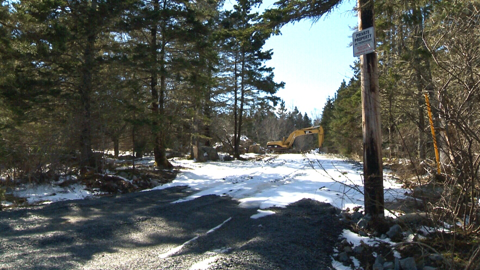 Local residents of Hackett's Cove are upset that access to a popular public beach has been blocked.