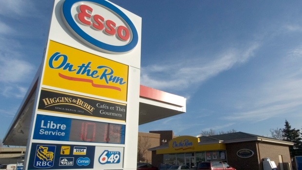 Montreal-area ESSO gas station
