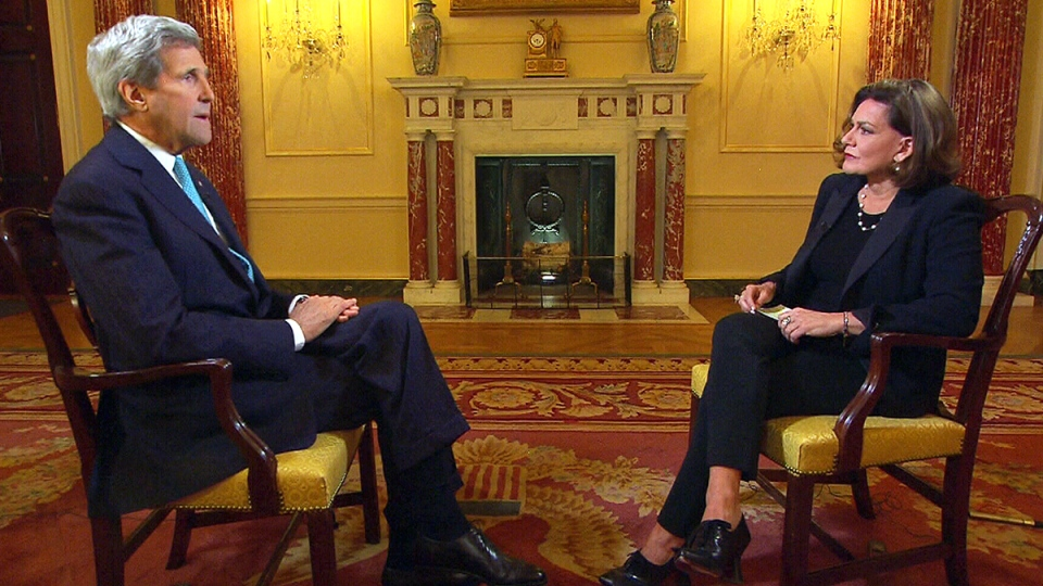 CTV's Chief Anchor and Senior Editor Lisa LaFlamme speaks with U.S. Secretary of State John Kerry in Washington, D.C., on Wednesday, March 9, 2016.