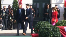 Obama's official welcoming ceremony for Trudeau