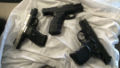 Police say several guns were seized in a joint operation called Project Kirby. (Courtesy OPP)