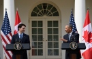 U.S. President Barack Obama speaks during a news conference with Prime Minister Justin Trudeau in the Rose Garden of White House in Washington, Thursday, March 10, 2016. (AP / Susan Walsh)