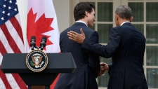 Trudeau and Obama speak in Washington