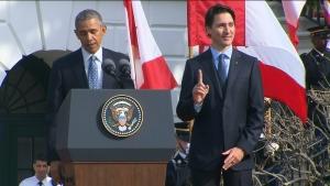 Trudeau Obama