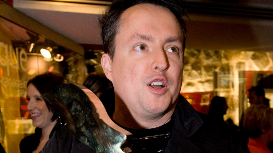 Mike Ward arrives at the Olivier awards gala in Montreal, on Sunday, May 15, 2011. (THE CANADIAN PRESS/Graham Hughes)