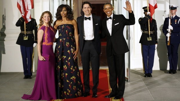 PM Trudeau arrives at state dinner in Washington