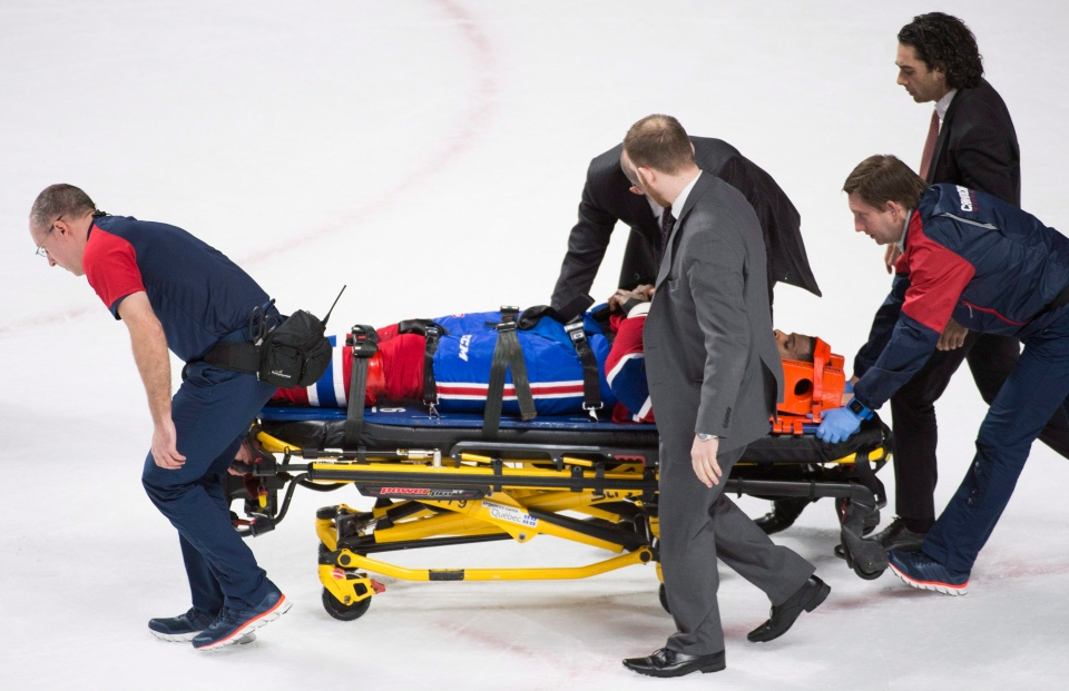 Canadiens P K Subban Leaves Game On Stretcher Ctv News