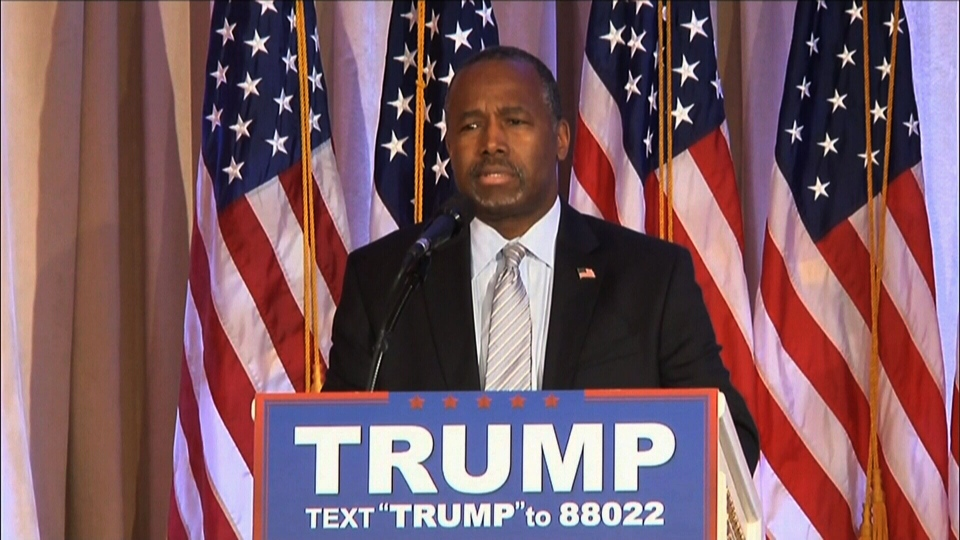 Former Republican presidential candidate Ben Carson endorsed Donald Trump on Friday, March 11, 2016.