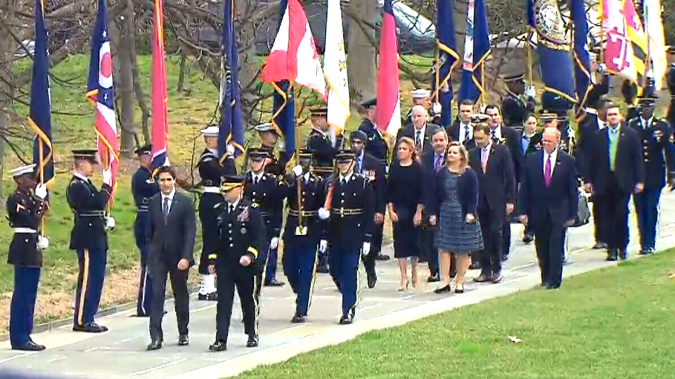 Trudeau at Arlington National Cemetery
