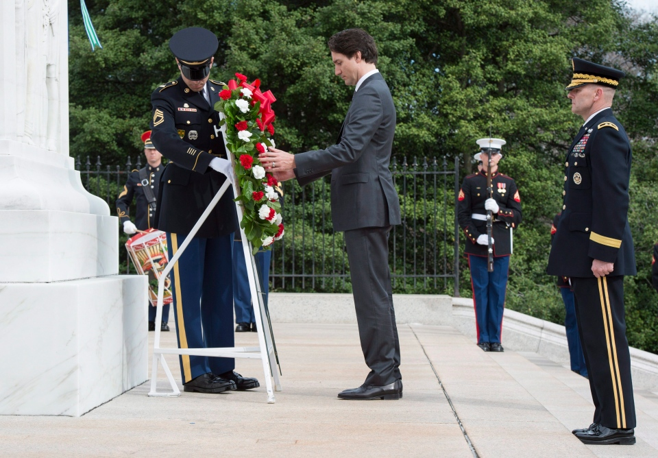 Trudeau lays wreath