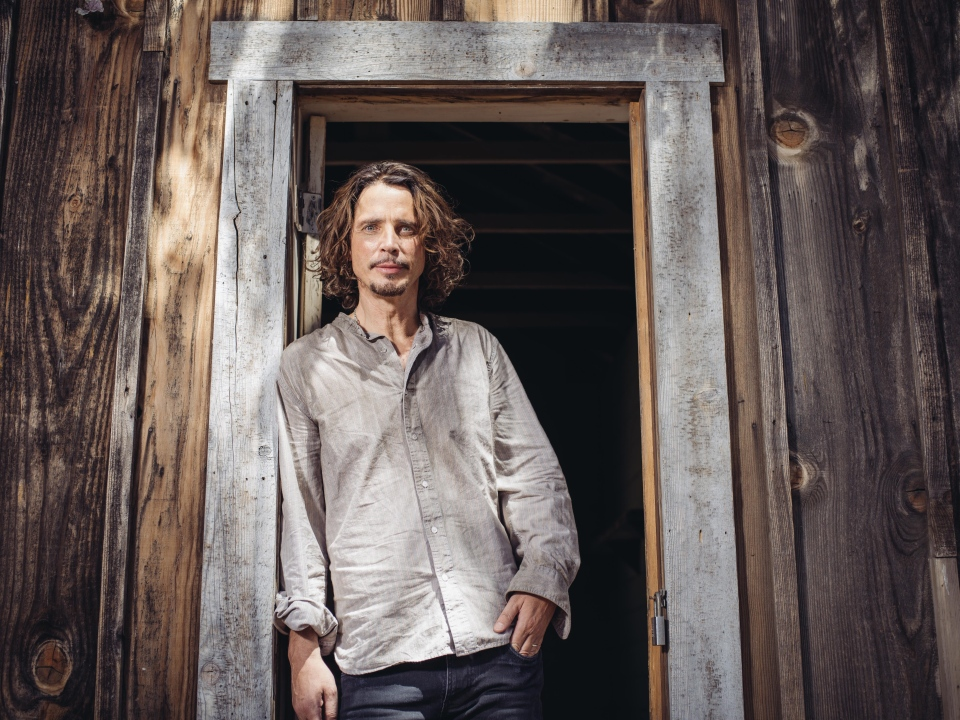 Chris Cornell poses for a portrait to promote his latest album, 'Higher Truth,' during a music video shoot in Agoura Hills, Calif. on July 29, 2015. (Casey Curry / Invision)