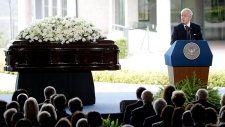 Brian Mulroney speaks at Nancy Reagan's funeral