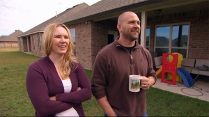 Sheri Mike (standing next to her husband Brandon) tells W5 she has Hypoactive Sexual Desire Disorder, which researchers say affects 10 per cent of women (W5).