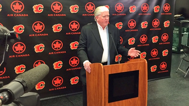 Flames president of hockey operations Brian Burke comments on Dennis Wideman's reduced suspension