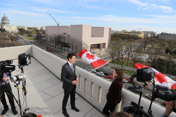 Justin Trudeau speaks with Lisa LaFlamme