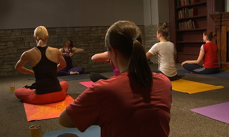 """Rage yoga"" substitutes anger for the traditional feeling of serenity."