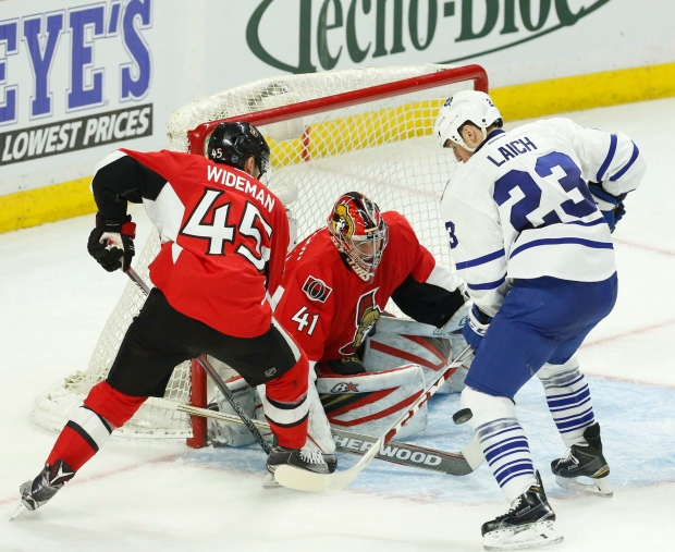 Leafs play Senators