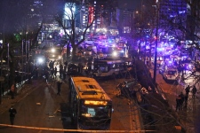 Emergency crews at Ankara explosion