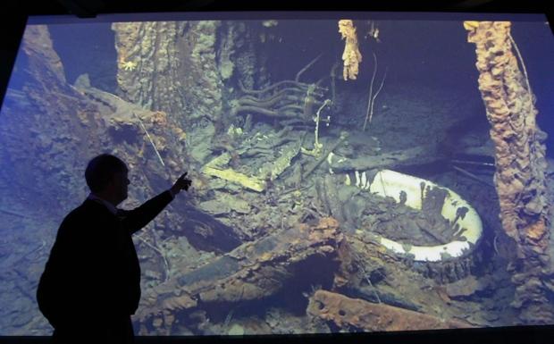 Robert Ballard and Titanic photos