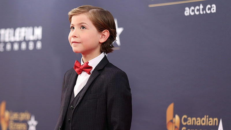 Jacob Tremblay, nominated for Actor in a Lead Role, for Room, on the red carpet at the Canadian Screen Awards in Toronto on Sunday, March 13, 2016. (THE CANADIAN PRESS/Peter Power)
