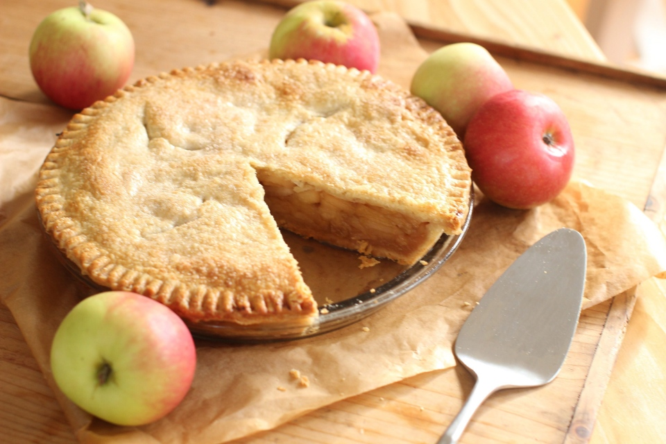 This Sept. 21, 2015 photo shows apple pie in Concord, NH. (AP/Matthew Mead)