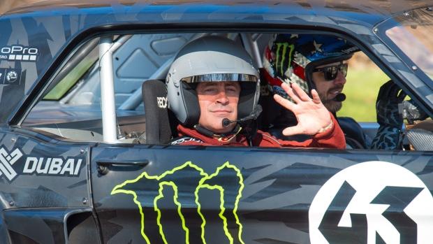 Actor and Top Gear presenter Matt LeBlanc, left