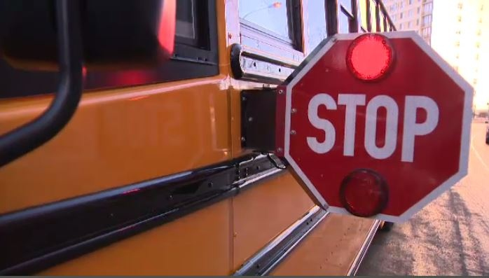As part of the 'Think of Us on the Bus' campaign, stop arm cameras will be installed on buses. (File)