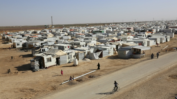 Zaatari Refugee Camp is seen in Jordan