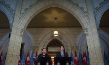 Prime Minister Justin Trudeau and Ban Ki-moon