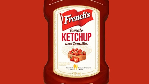 A bottle of French's ketchup
