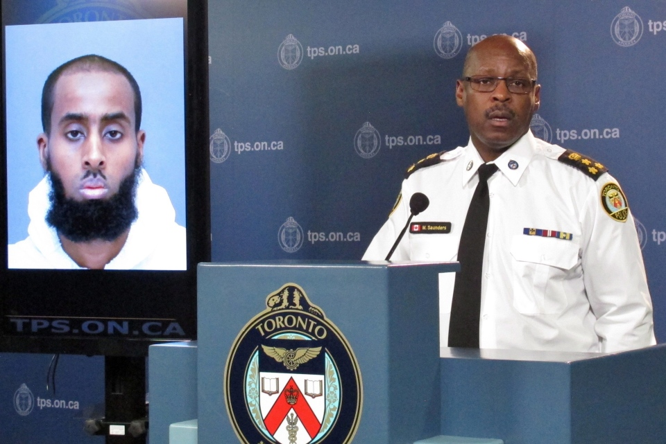 Toronto Police Chief Mark Saunders speaks at a news conference, Tuesday, March 15, 2016. (Colin Perkel / THE CANADIAN PRESS)
